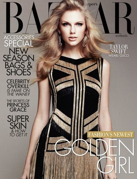 Taylor Swift, elegante y espectacular en Harper's Bazaar