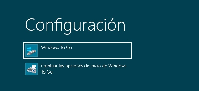 Windows To Go, configuración