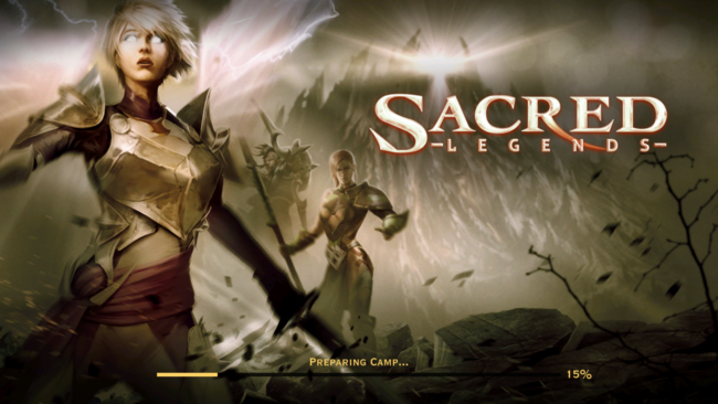 Sacred Legends Title