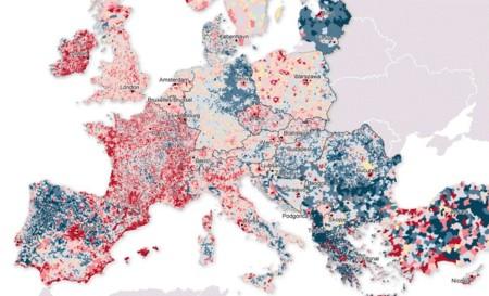 Así se ha desplazado la población de Europa del campo a la ciudad en apenas diez años