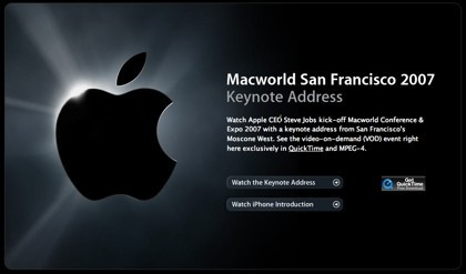 El vídeo de la keynote en formato webcast ya está disponible en Apple.com