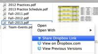 Dropbox ahora permite compartir archivos desde el escritorio con más rapidez