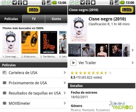 IMDb, todo el cine en el móvil