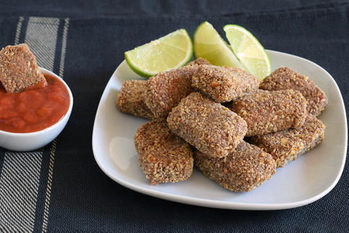 Nuggets de tofu al horno: receta saludable vegana y sin gluten