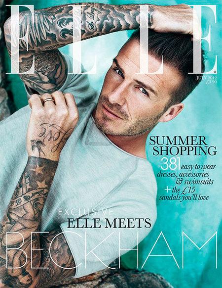 Gracias Elle por un machote de la talla de David Beckham