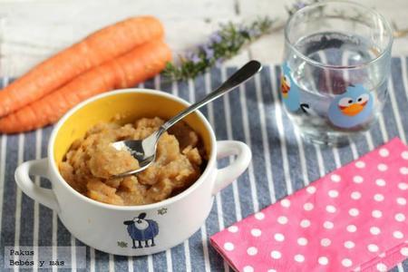 Puré de ternera, patatas y zanahoria. Receta para bebés