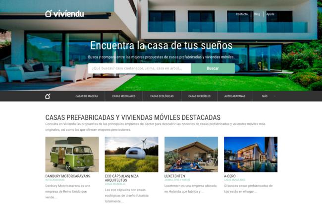 """Viviendu: la web española que te ayuda a encontrar la casa móvil """"de tus sueños"""""""