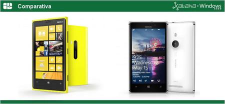 Nokia Lumia 920 y Lumia 925 frente a frente