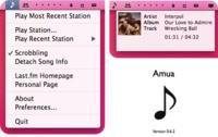 Amua, una pequeña nota musical en tu menú que se conecta a Last.fm