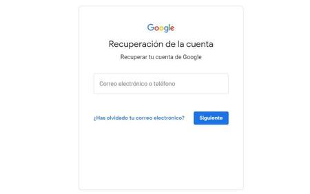 Recuperar cuenta de Google
