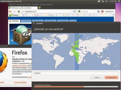 Las imágenes de Ubuntu Precise Pangolin cabrán en un CD