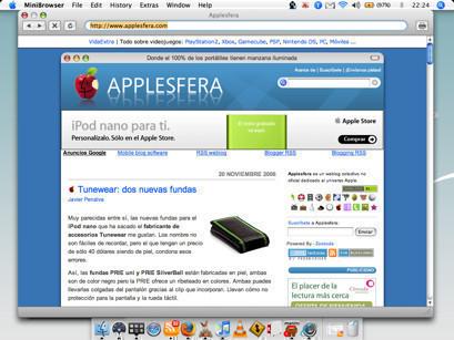 MiniBrowser, otro navegador minimalista
