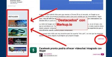 Markup.io: comparte un enlace y además destaca lo que quieras de una página web