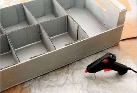 Recicladecoración Una Caja De Fruta Como Estante Para El Baño