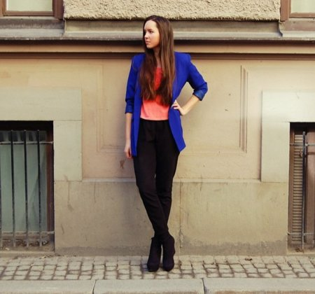 Color block Look de calle