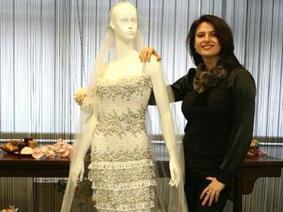 Un vestido de novia de cristales de Swarovski