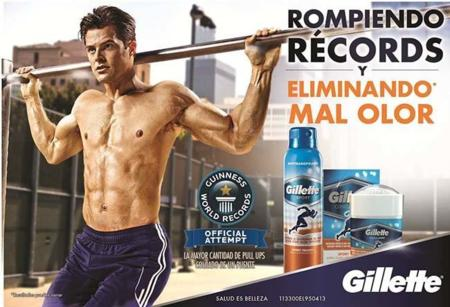Siete atletas rompiendo un Guinness World Records