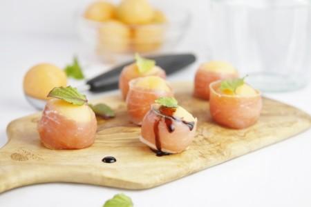 Prosciutto Wrapped Melon Balls Www Bellalimento Com 013 800x533