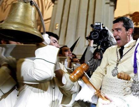 Antonio Banderas vivió intensamente la Semana Santa