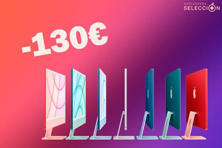 """El iMac de 24"""" con chip M1, 512 GB de SSD y Touch ID en el Magic Keyboard está 130 euros más barato en Amazon y marca nuevo mínimo"""