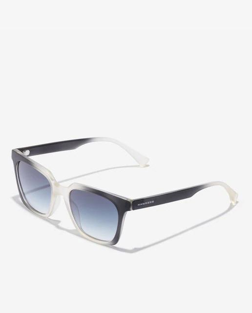 Gafas de sol unisex Hawkers cuadradas en negro degradado en el frontal