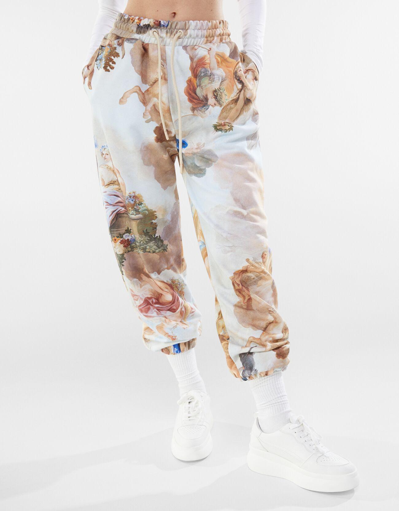 Pantalón felpa print