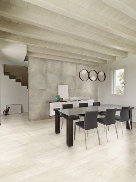 Salon Con Vigas Venatto White Br