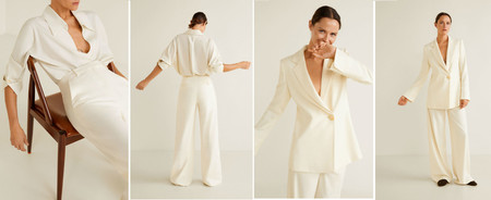 El traje de chaqueta puede ser el look nupcial perfecto para las bodas de invierno