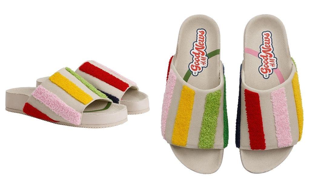 Sandalias con tejido rizado