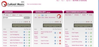 ZuKool Music, recomendándonos nuevos temas musicales en función de nuestros gustos