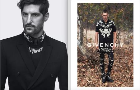 Tony Ward y Alessio Pozzi encarnan al hombre Givenchy de la temporada.