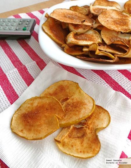 Chips de manzana con canela. Receta para el Mundial 2014
