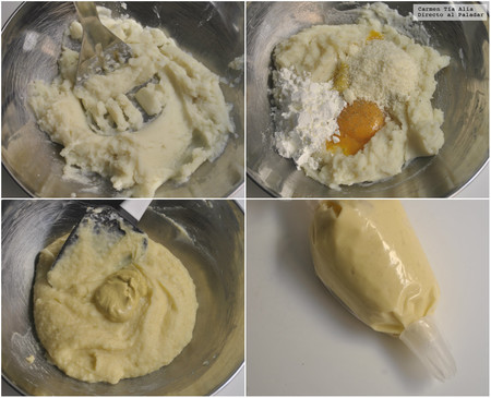 Paso A Paso Churros De Patata Parmesano Y Mostaza