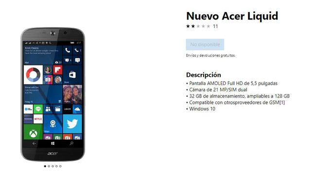 Windows Mobile queda en manos de los fabricantes, Microsoft vende el último móvil en su página oficial