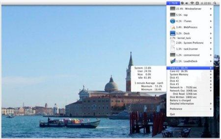 MiniUsage, toda la información del Monitor de Actividad desde la barra de menú