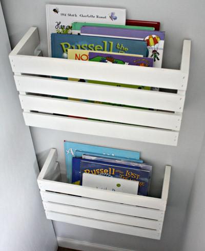 Hazlo t mismo cajas de madera cortadas por la mitad y - Cajas para estanterias ...