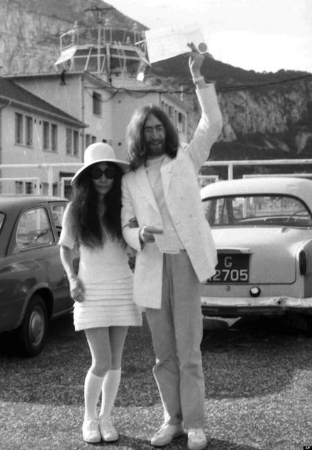 yoko ono vestido novia