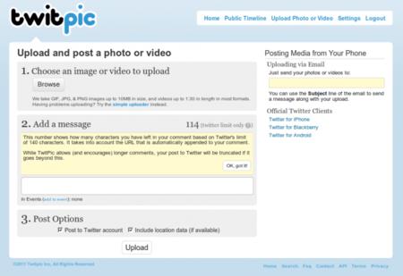 Twitpic nos permite ahora subir vídeos