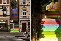 La escalera arcoíris de Horst Gläsker