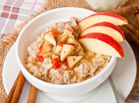 Porridge Avena Manzana Canela Desayuno Saludable
