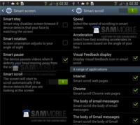 La actualización a Android 4.2 del Galaxy S3 podría integrar Smart Scroll