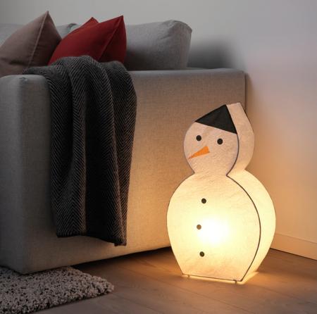 Lámpara de muñeco de nieve