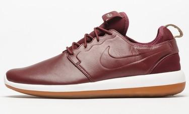 """Más """"premium"""" en rojo burdeos: zapatillas Nike Roshe Two Leather 2017"""
