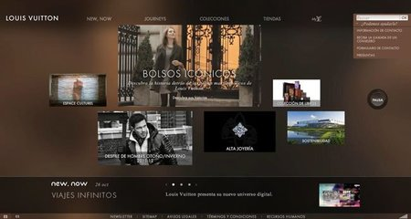 Interaccionando en el nuevo Louis Vuitton.com