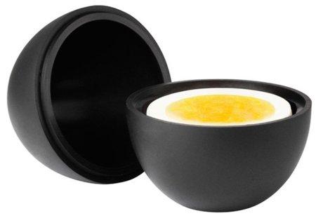 Un portahuevos con forma de huevo