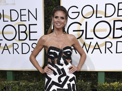 """Los Globos de Oro 2017 hacen que Heidi Klum se vuelva original, elegante y """"arty"""""""