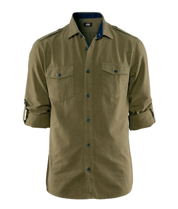 Camiseta verde militar Primavera 2013 H&M