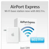 Apple introduce el protocolo 802.11n en el Airport Express