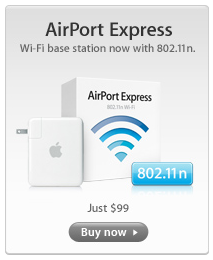 Apple introduce el protocolo 802.11n en el Airport Express