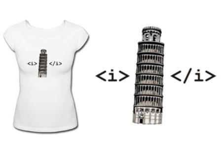 Camiseta HTML Pisa
